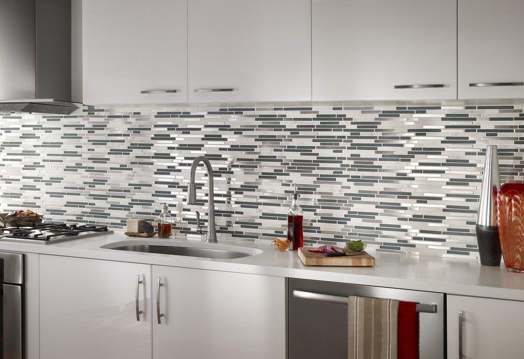 Install Subway Tile Backsplash Kitchen Dry Lay Tiles Along Countertop Prior Instal Mosaic Tile Backsplash Kitchen Mosaic Tile Backsplash Arabesque Tile Kitchen