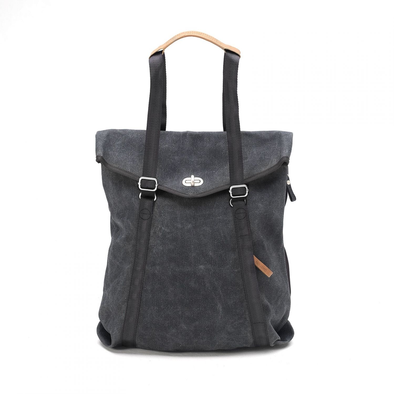 Qwstion Tasche Tote Washed Black gesehen @ www.sailerstyle.com