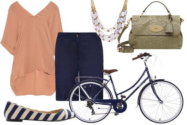 I'm amused that these outfits have color-coordinating bikes.