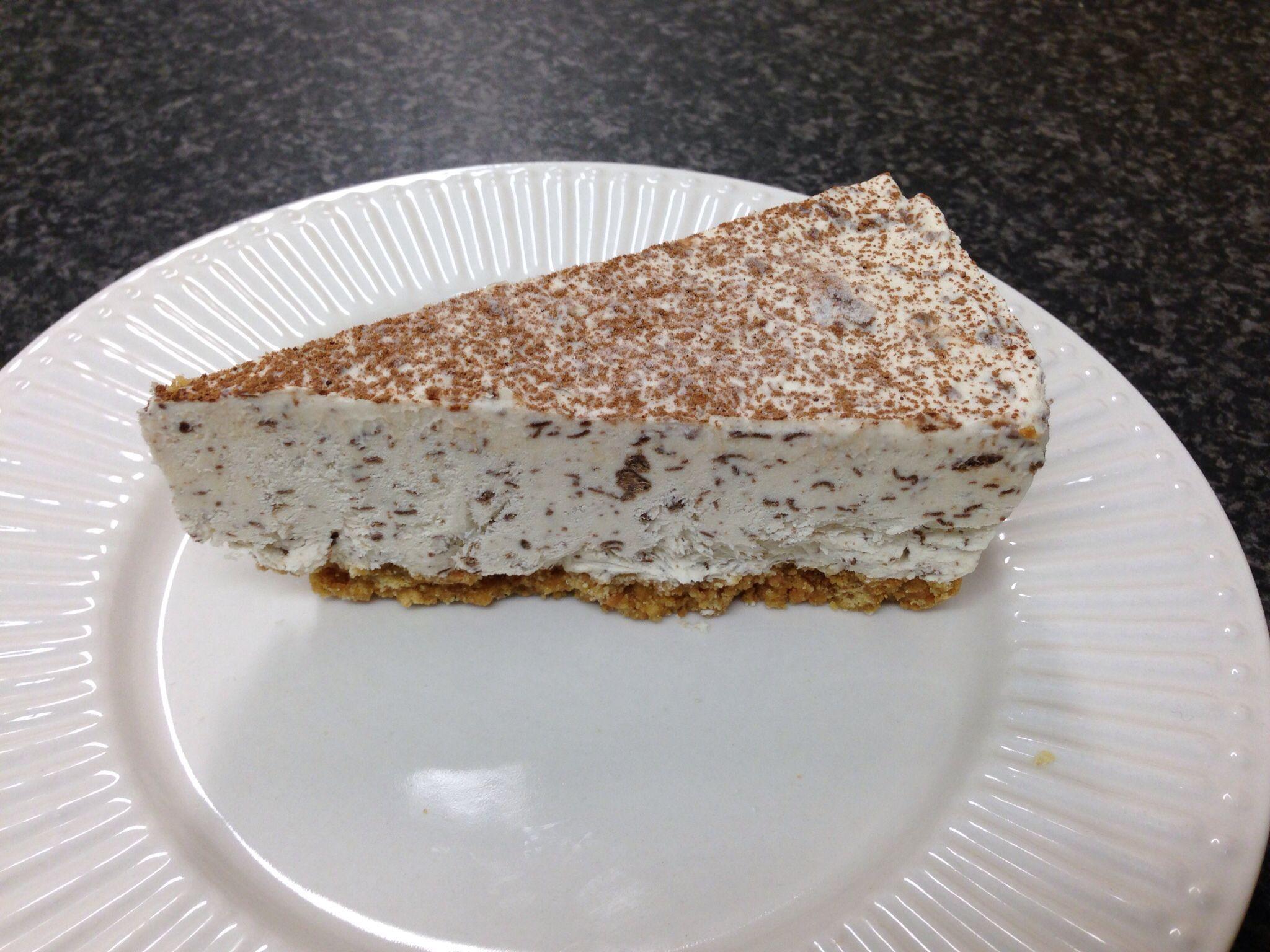 Irish Cream and mint cheesecake