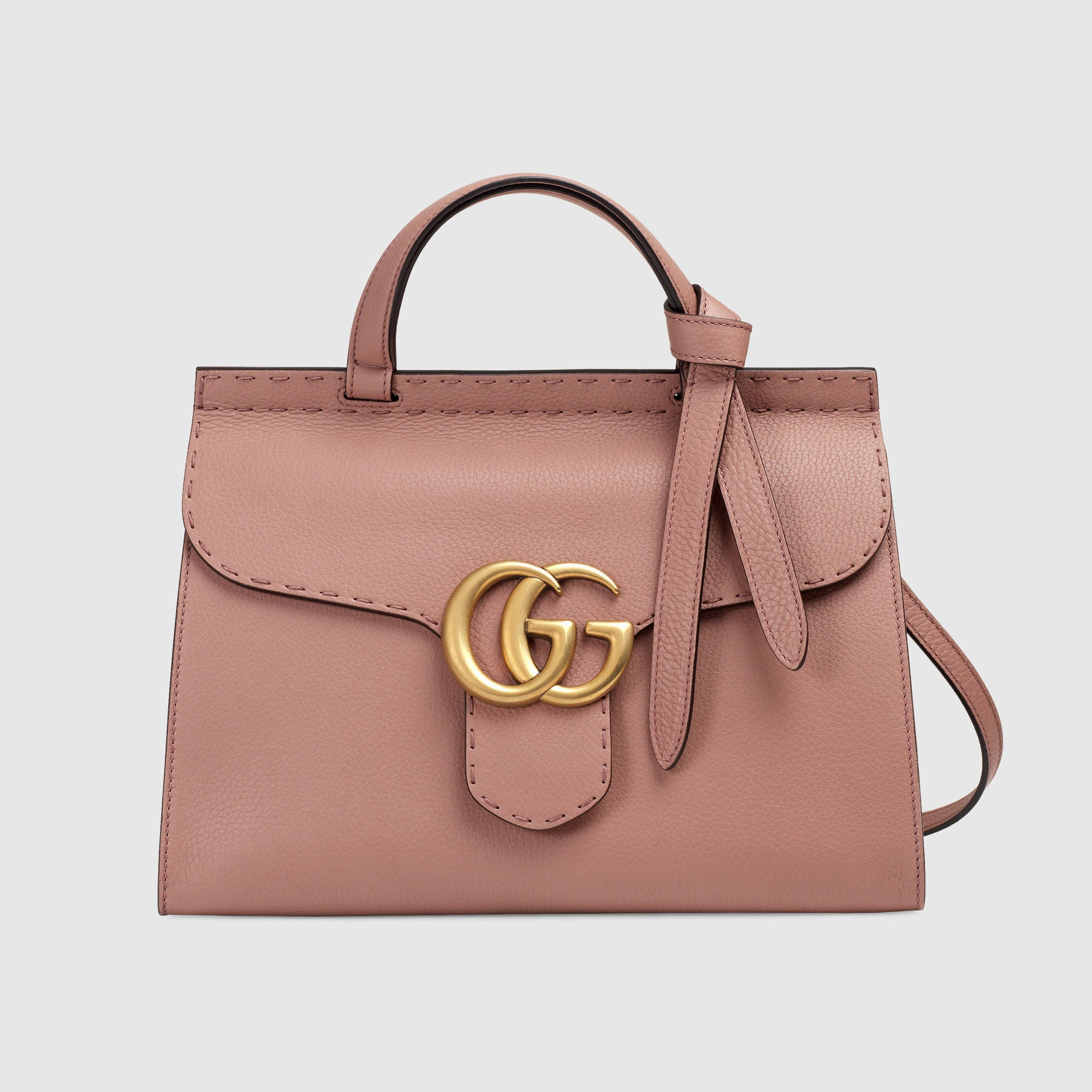 0debcadd25 Gucci Women - GG Marmont leather top handle bag - 421890A7M0B6813