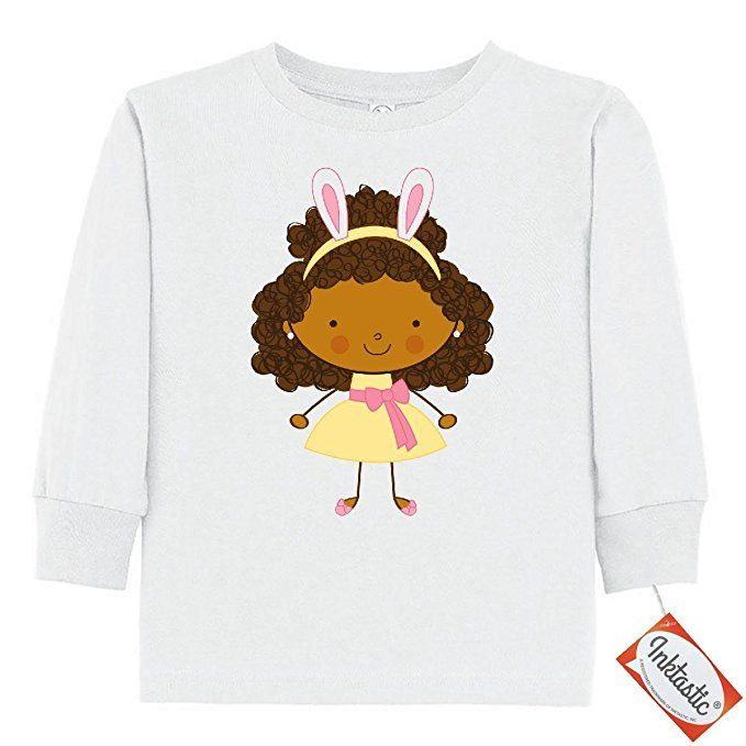 inktastic Easter Bunny Outfit Girls Toddler Long Sleeve T-Shirt