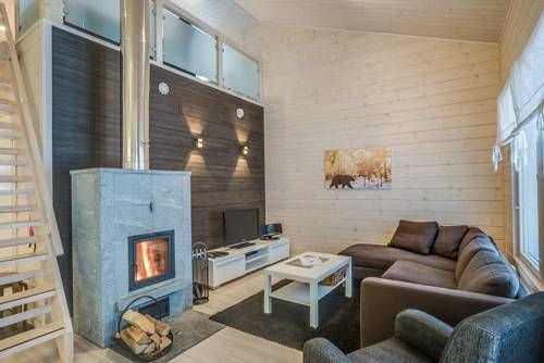 Rukankarhu Apartment Rukatunturi This modern apartment has a private sauna, terrace and fireplace with free firewood. Ruka Ski Resort is 3 km away, and its hourly shuttle bus stops within 150 metres.