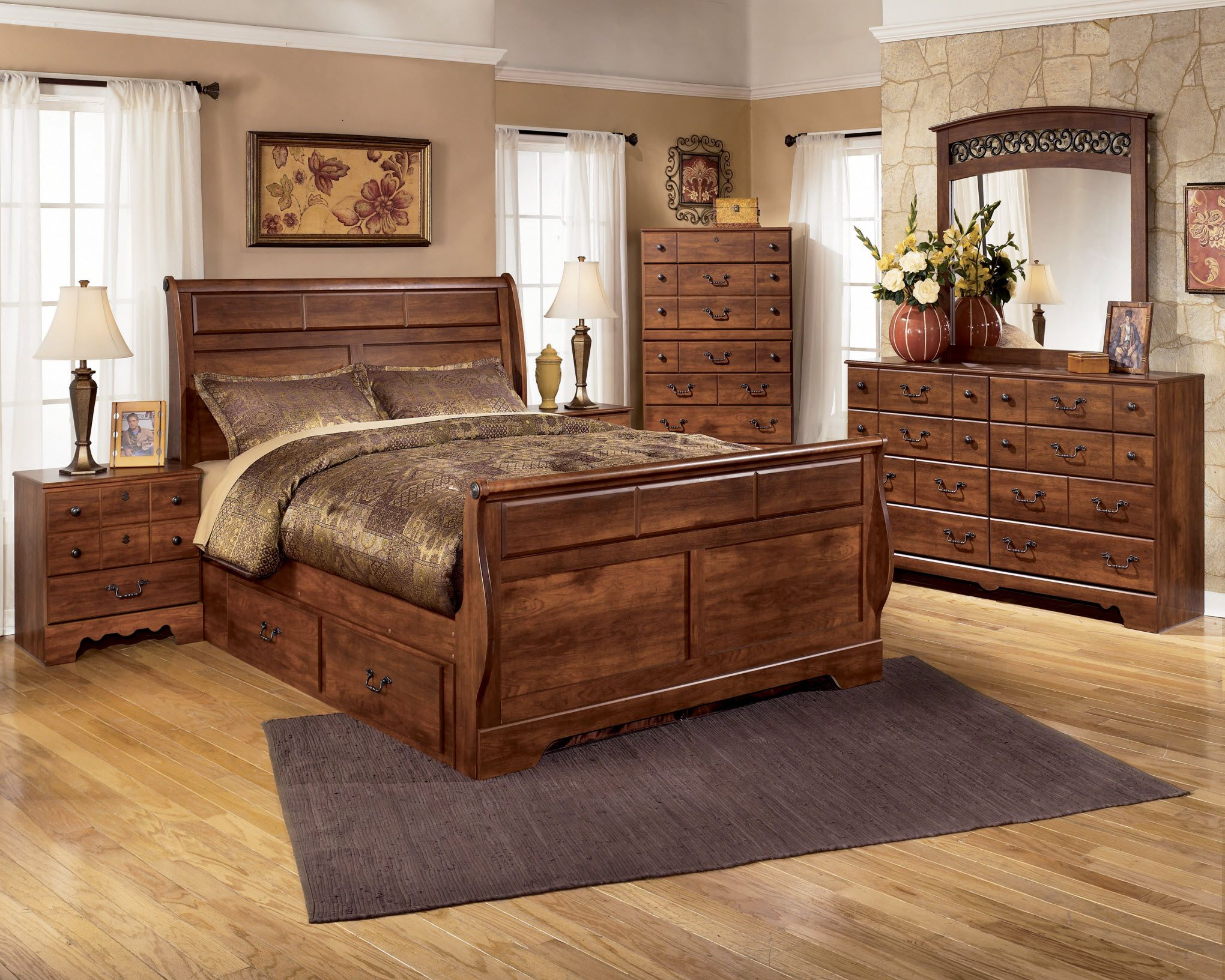 Ashley Furniture Gallery As B258 B258 Timberline Ashley Bedroom Set Sleigh Bedroom Set