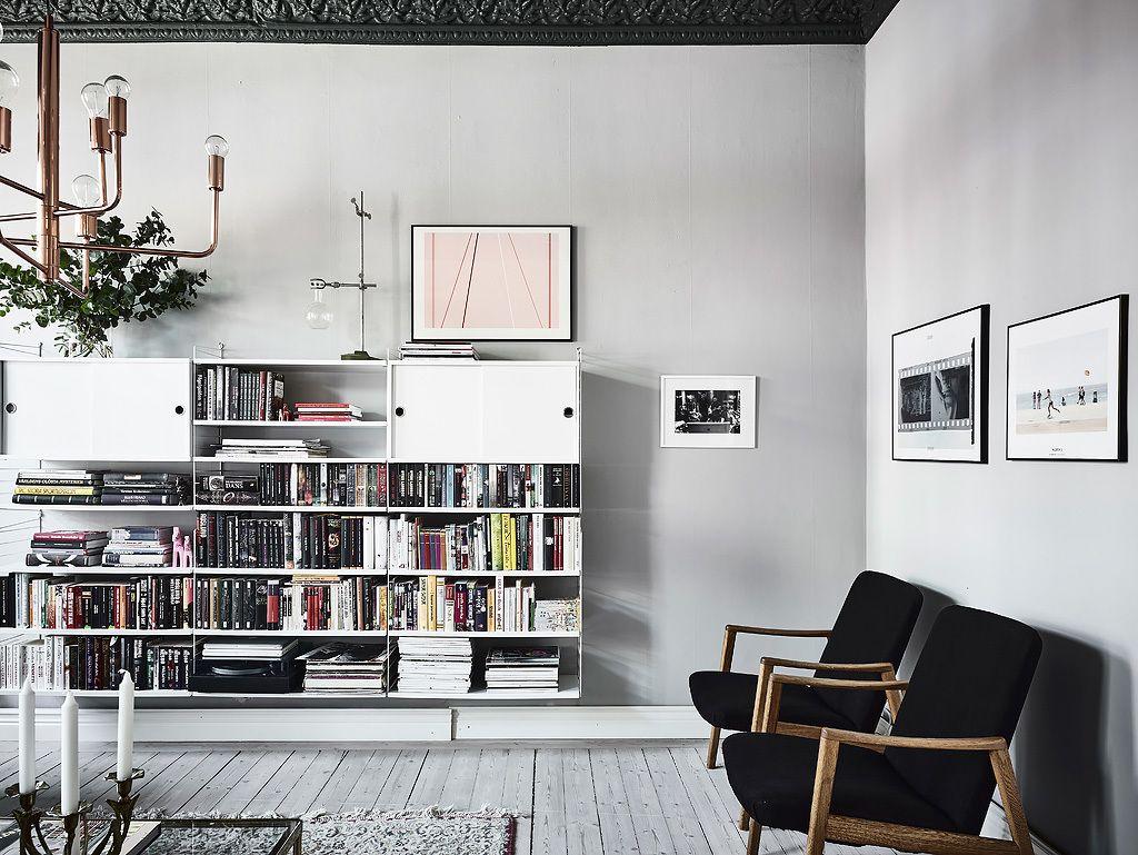 Scandinavisch Appartement Inspiratie : Dit scandinavisch appartement heeft hele mooie gekleurde muren