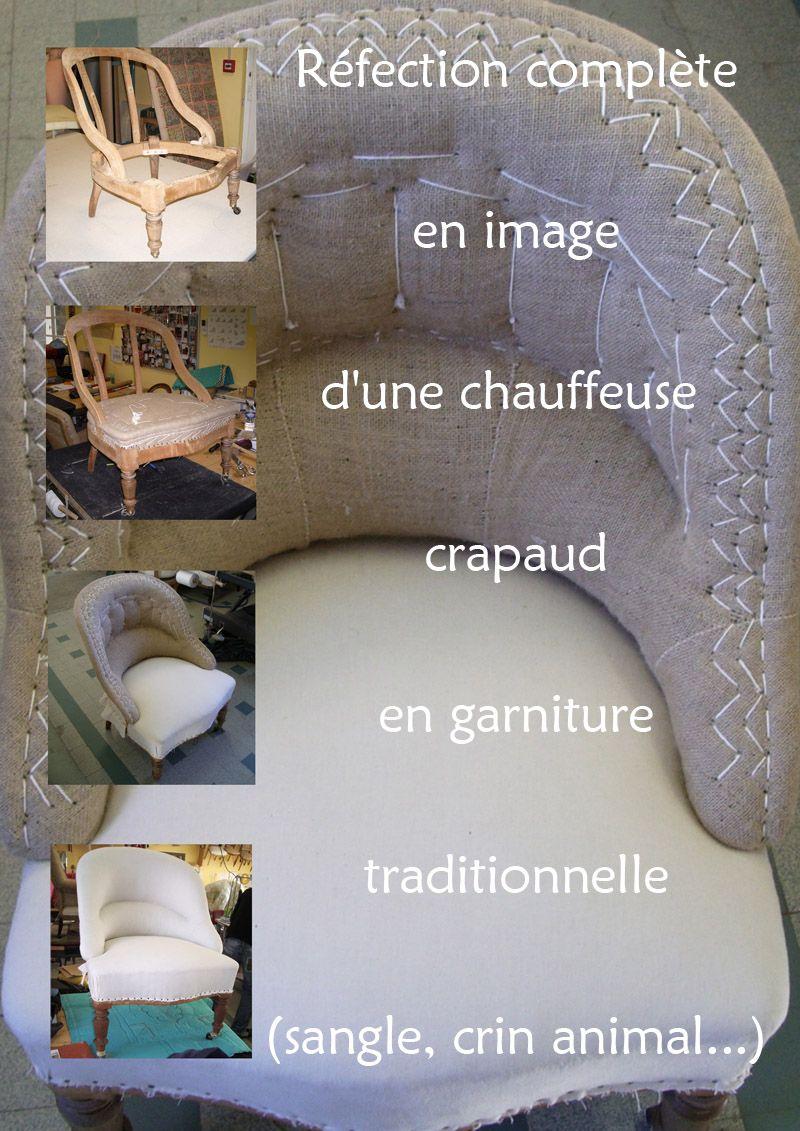 Réfection Dune Chauffeuse Crapaud Bricolage Pinterest - Formation decorateur interieur avec tapisser fauteuil crapaud