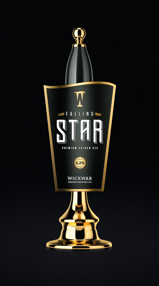 Wickwar - Falling Star Pump Clip | Design by Halo