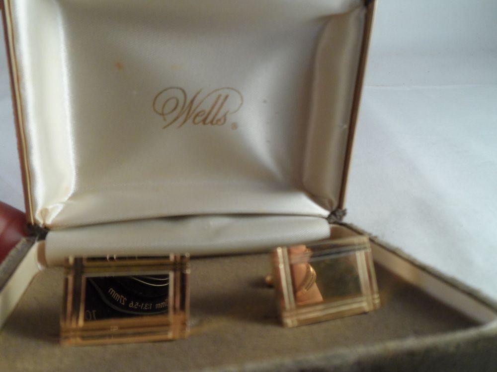 Men's Wells Cuff Links Gold Tone Jewelry | eBay