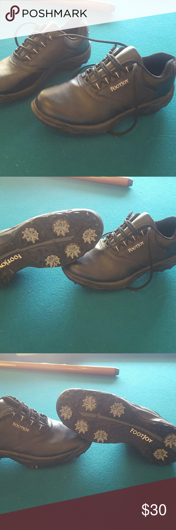 Footjoy golf shoes size 9.5 Footjoys are the number shoes in the game of golf these are super comfortable clean and breathable waterproof leather tons of traction only worn twice retails for $159.99 FootJoy Shoes Athletic Shoes #shoegame