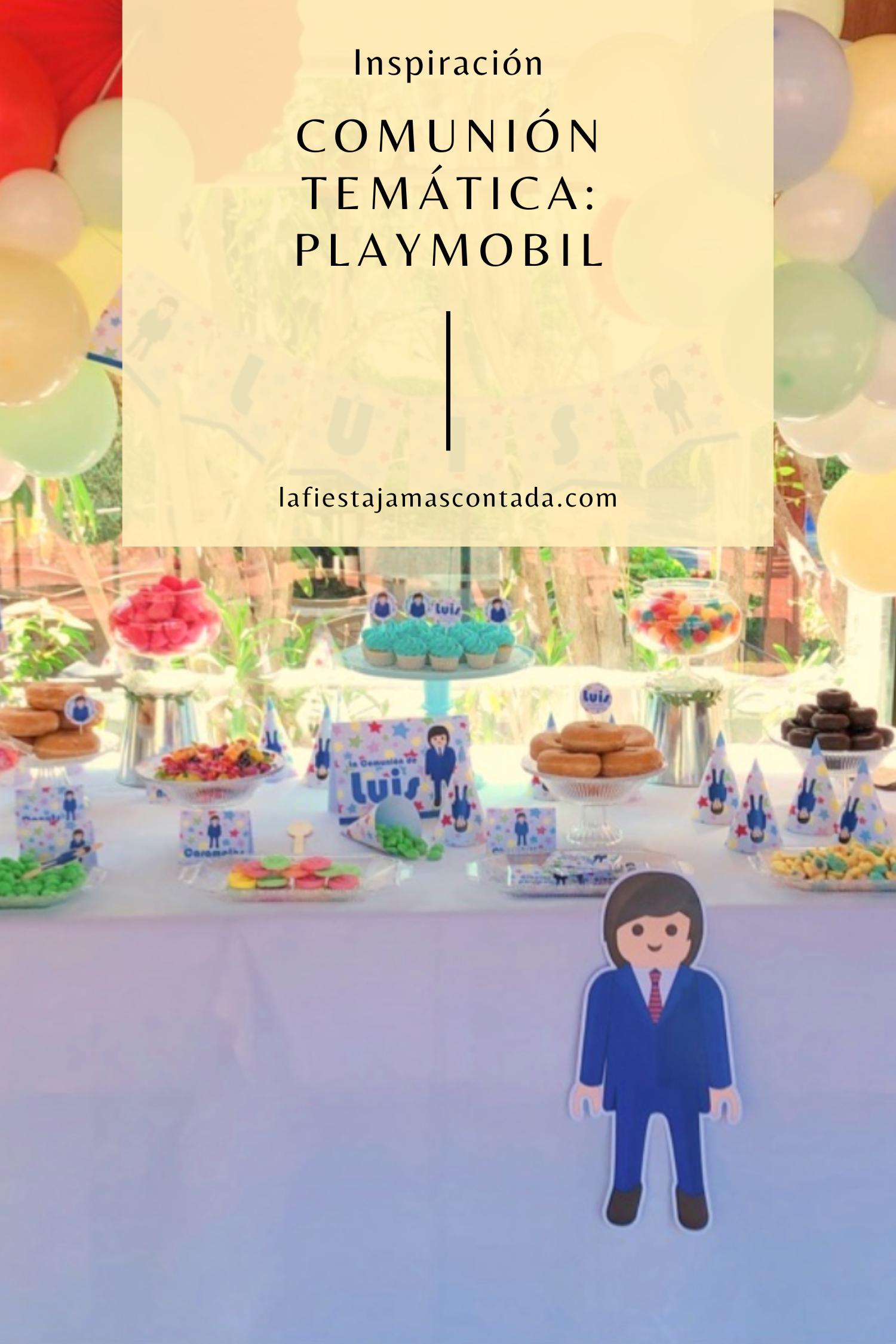 Organiza Una Comunión Temática Inspirada En Los Muñecos De Playmobil Juguetes De Playmobil Eventos Decoracion De Eventos