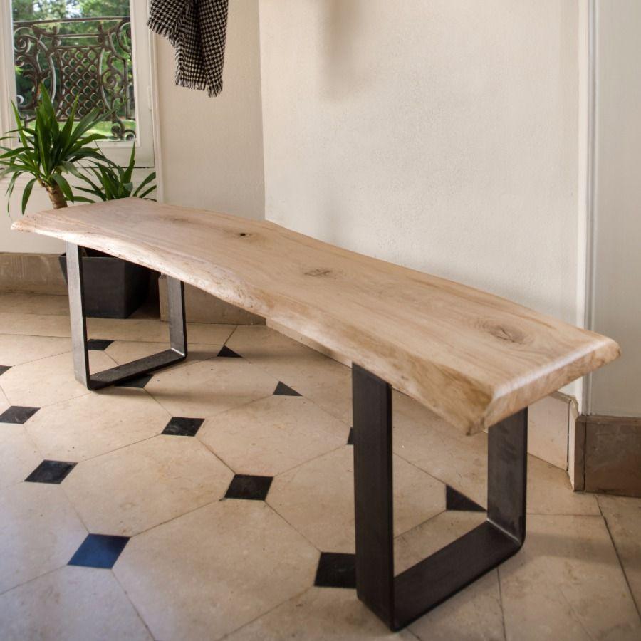 le banc courbe bancs sur mesure pinterest bancs pied metal et banc design. Black Bedroom Furniture Sets. Home Design Ideas
