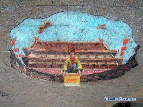 DHL postal ad in Brimingham!   Aline for street art