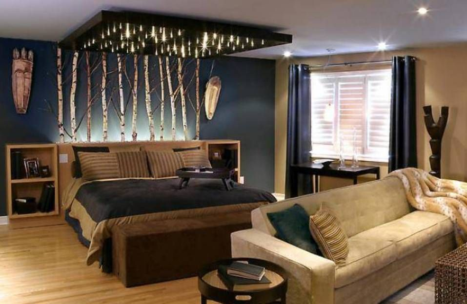 dark bedrooms ideas - Google Search   Bachelor bedroom ...