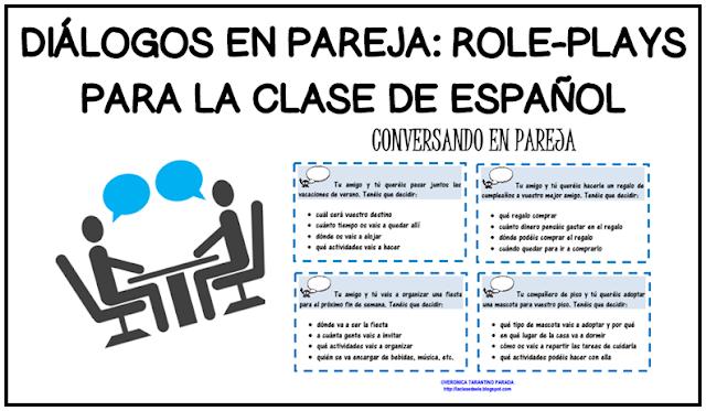 Laclasedeele Tarjetas Para Practicar Diálogos En Pareja Hablar Español Expresión Oral Conversacion En Español