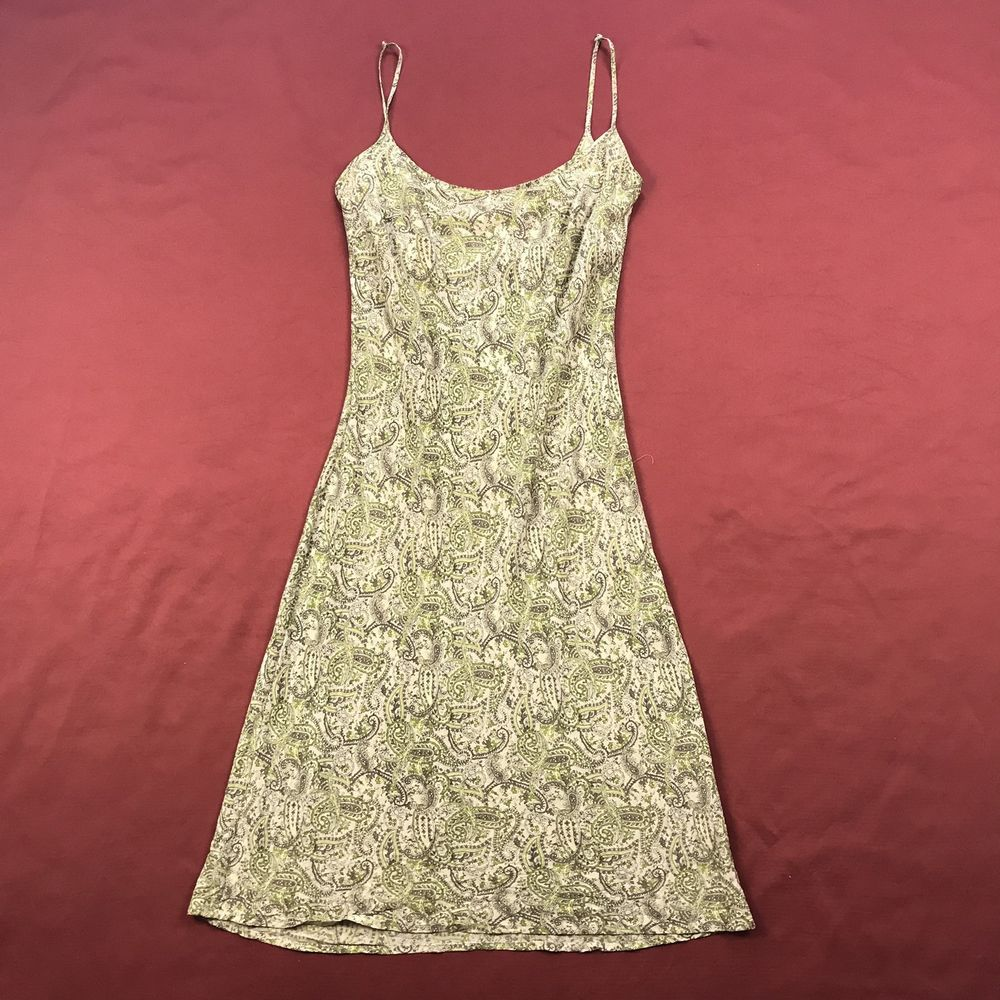 The Limited Womens Sz 8 Mid Calf Dress Spaguetti Strap Paisley Silk Floral NWOT #TheLimited