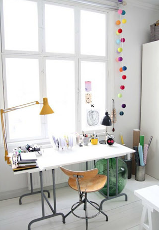 Creative Spaces Colour Commentary Home Office Space Chic Workspace Home Decor