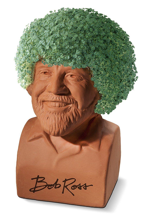 Ha Chia Pet Bob Ross Great Gift Idea Affiliate Link Chia Pet Bob Ross Decorative Pottery