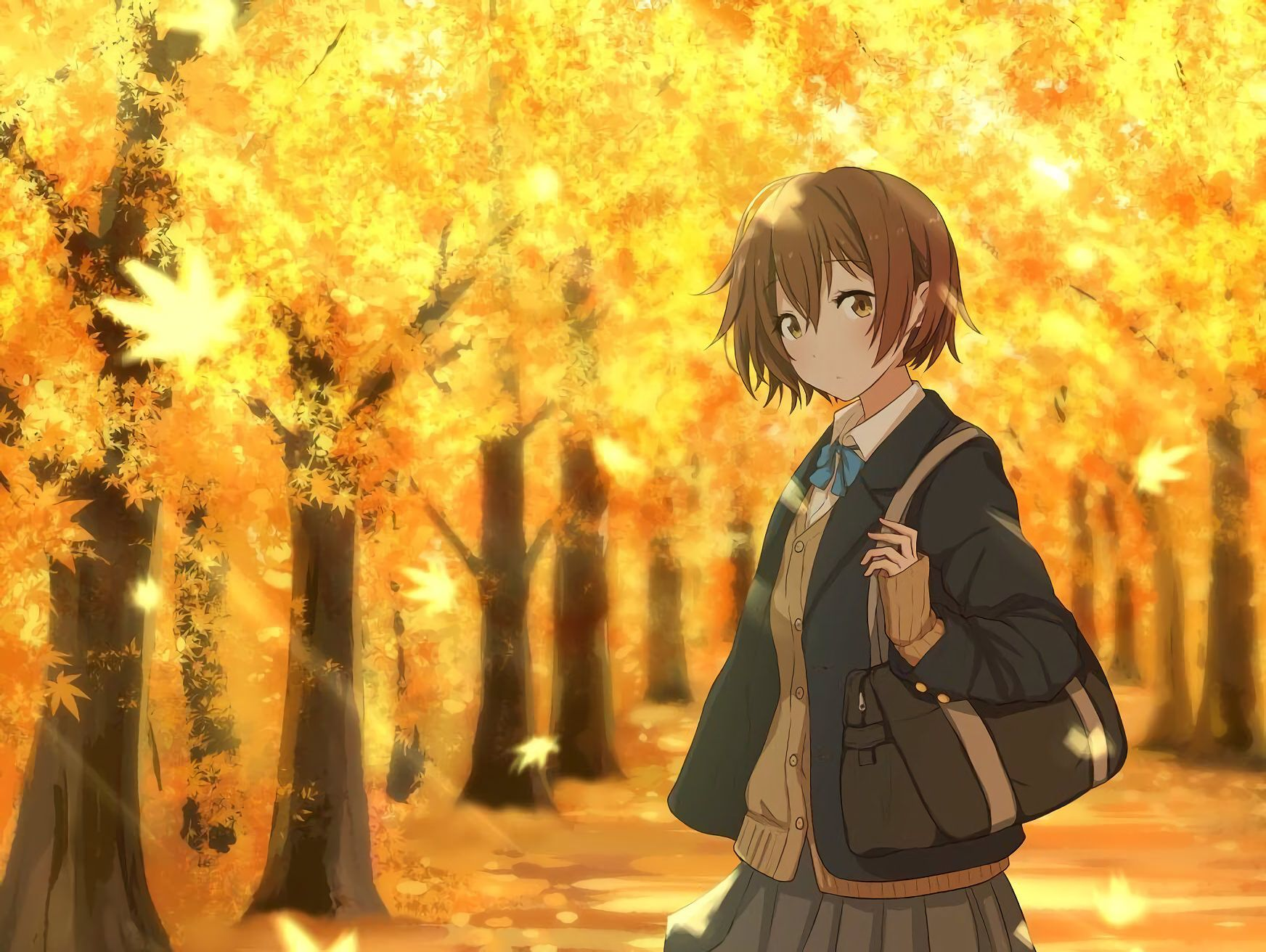 Yellow Autumn Original Anime Backgrounds Wallpapers Anime Scenery Wallpaper Anime Background