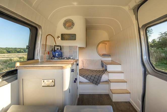 Brilliant Camper Van Conversion Uses Space Saving Boat Design Ideas