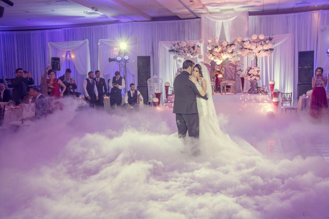 Slow Dance Wedding Stage Dry Ice