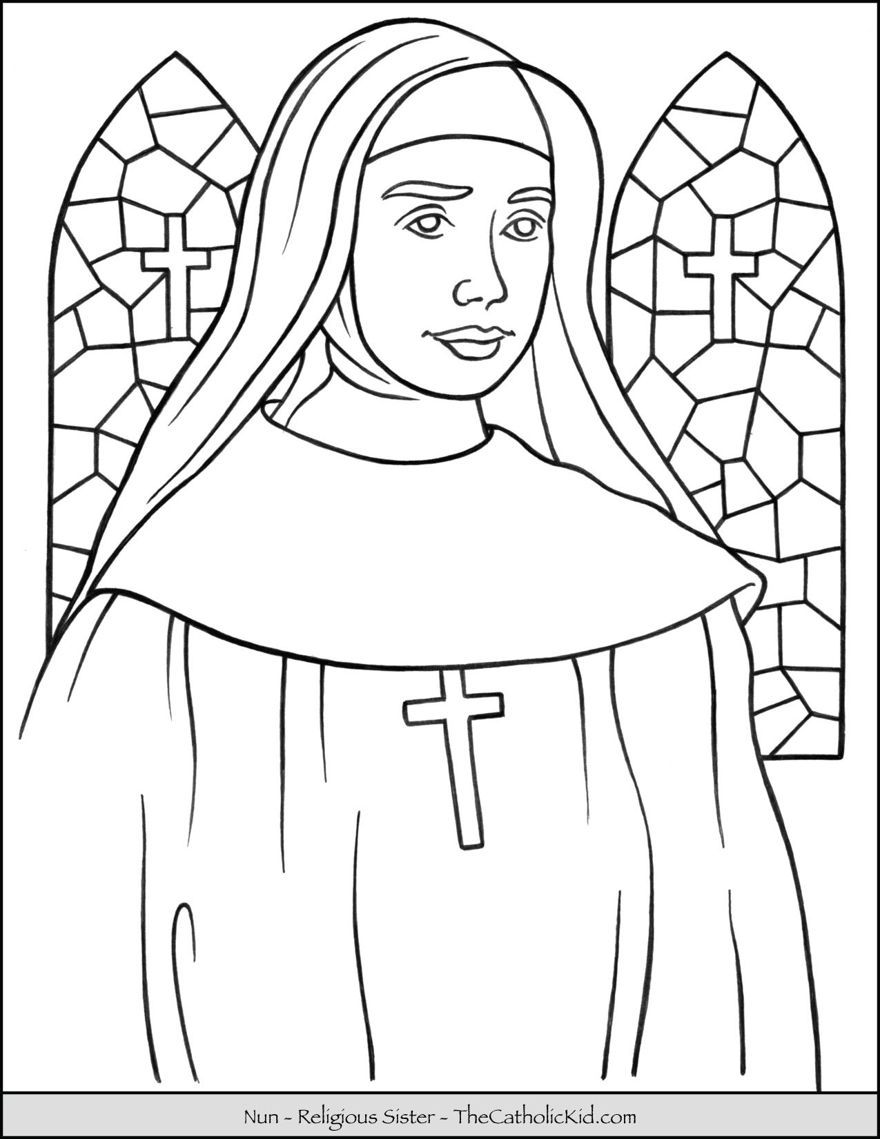 Pin Em Catholic Coloring Pages For Kids