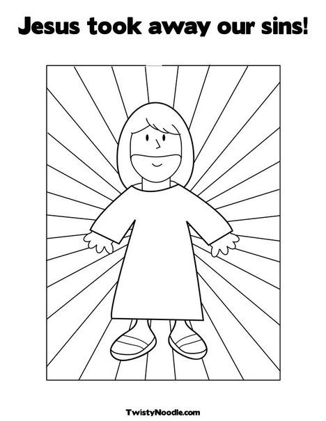 jesus took away our sins coloring page from twistynoodlecom can even customize the