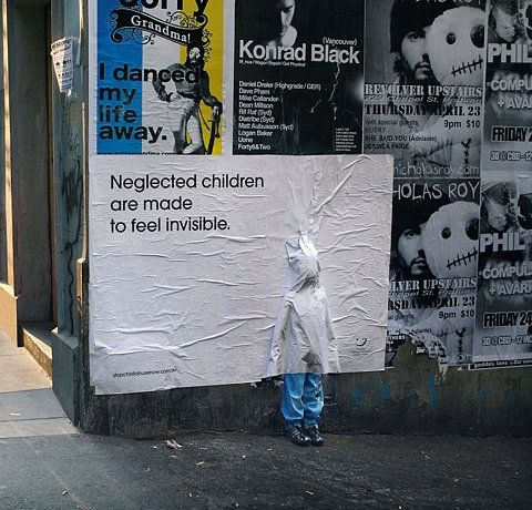 Neglected children are made to feel invisible.