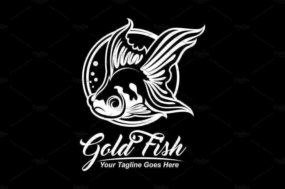 Oranda Gold Fish Vector Art Design Illustration Logo Di 2020 Desain