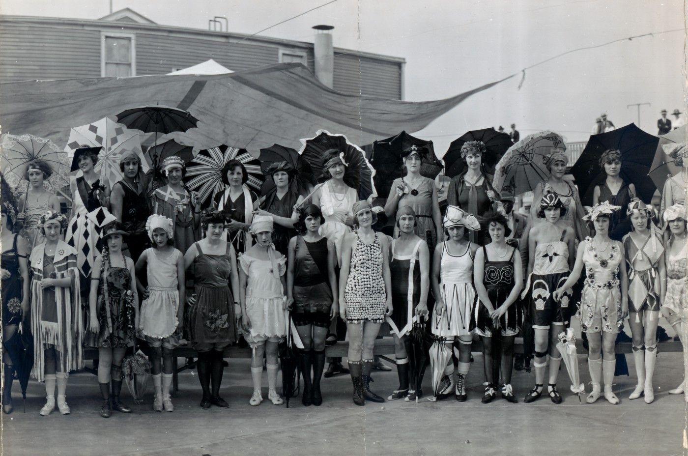 ecfaa5d81a Center detail) Contestants in the Bathing Girl Revue. Galveston ...