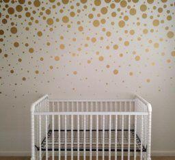 Amazon.com   Set Of 251 Metallic Gold Circles Polka Dots Vinyl Wall Decals  Stickers