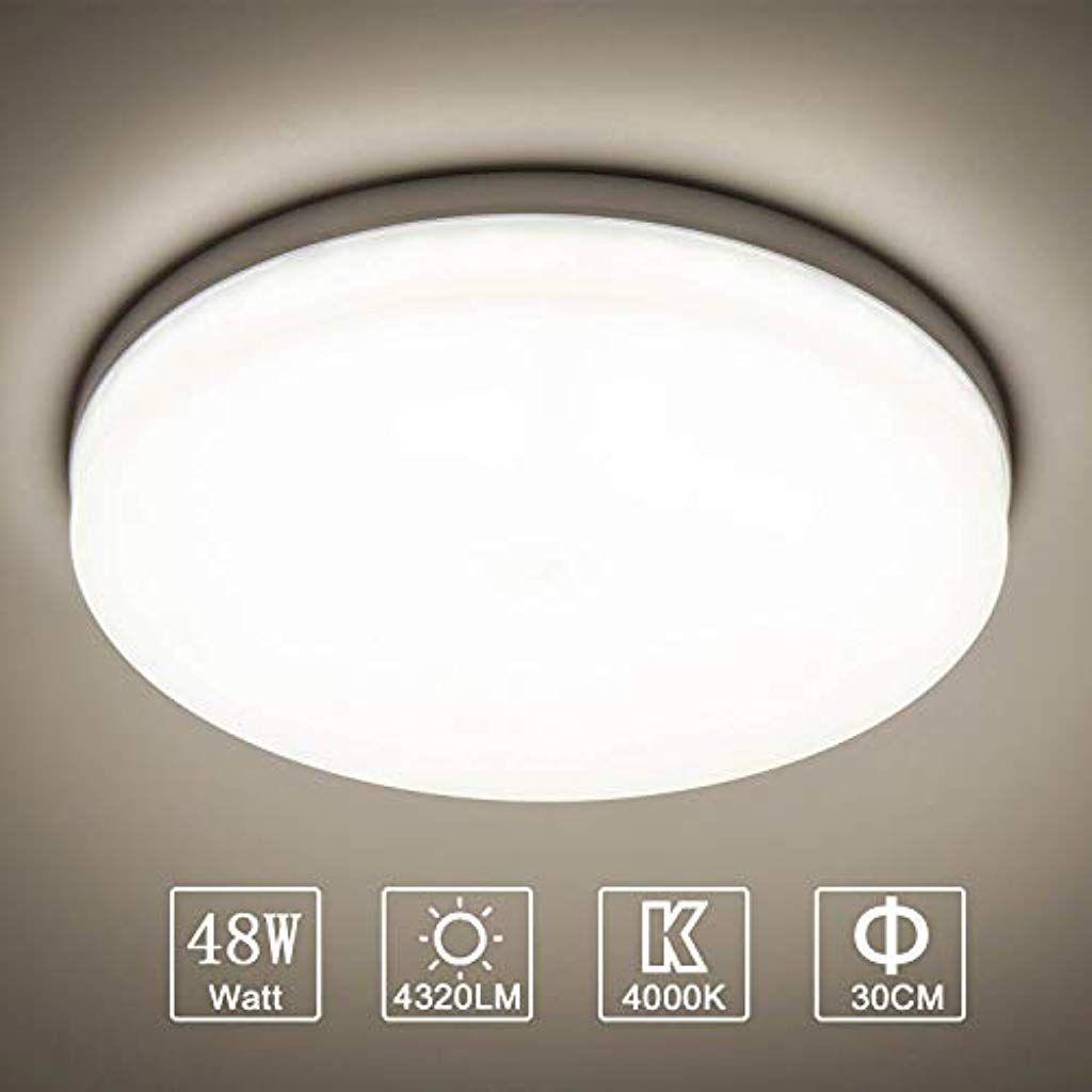48W LED Deckenleuchte Dimmbar Wohnzimmer Badlampe Küche Ultraslim Wandlampe IP44