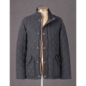 Boden Quilted Jacket In Gray Wool My Style Men S Coats Jackets