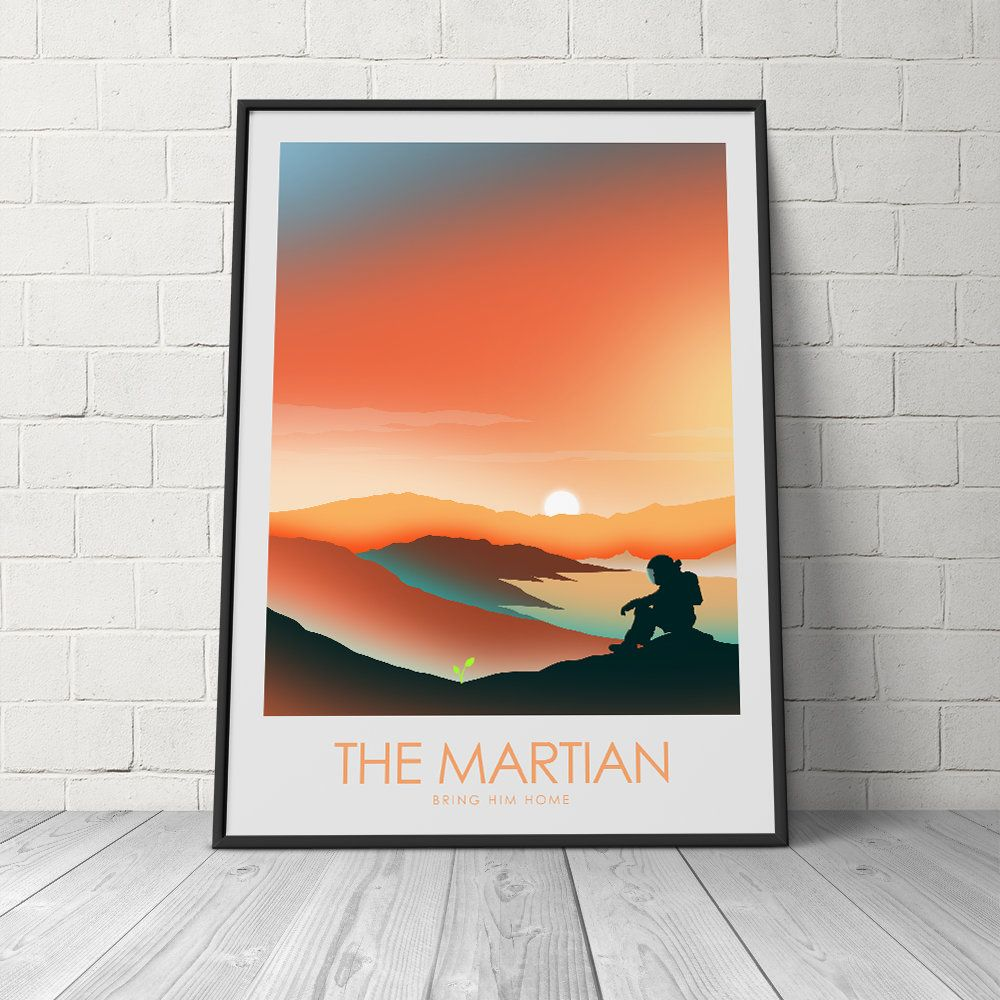 Minimalist Poster Of The Martian Movie Poster Film Print