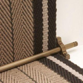 Staircase Runner · Light Antique Bronze Rod 2 Bronze Brackets. Like This  Bracket!