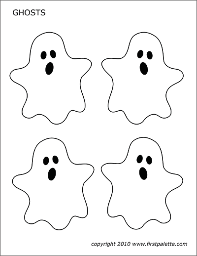Ghosts Free Printable Templates Coloring Pages Firstpalette Com Halloween Templates Halloween Printables Free Halloween Coloring
