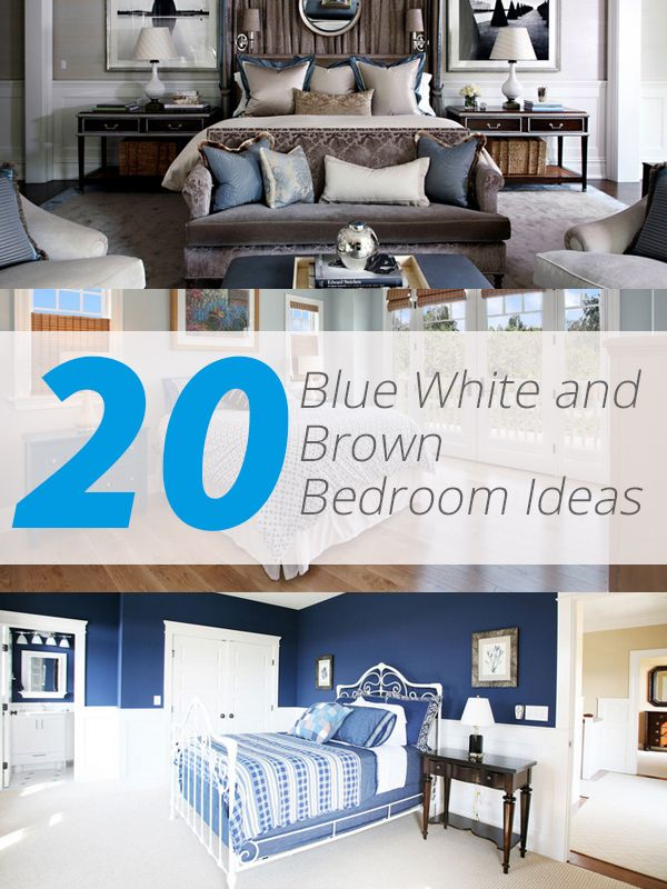 20 Blue, White And Brown Bedroom Ideas