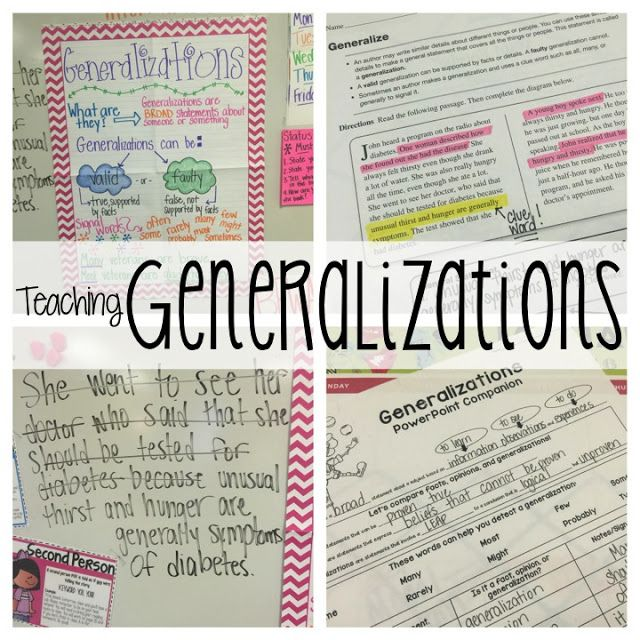 Teaching Generalizations Life In Fifth Grade Language