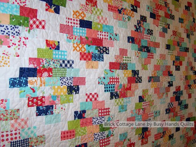 Busy Hands Quilts: Brick Cottage Lane {a PDF Pattern in 6 Sizes ... : brick quilt - Adamdwight.com