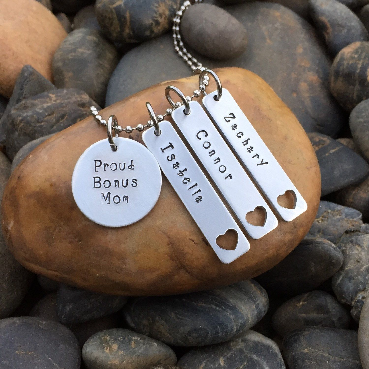 Bonus mom necklace mothers day gift mothers day