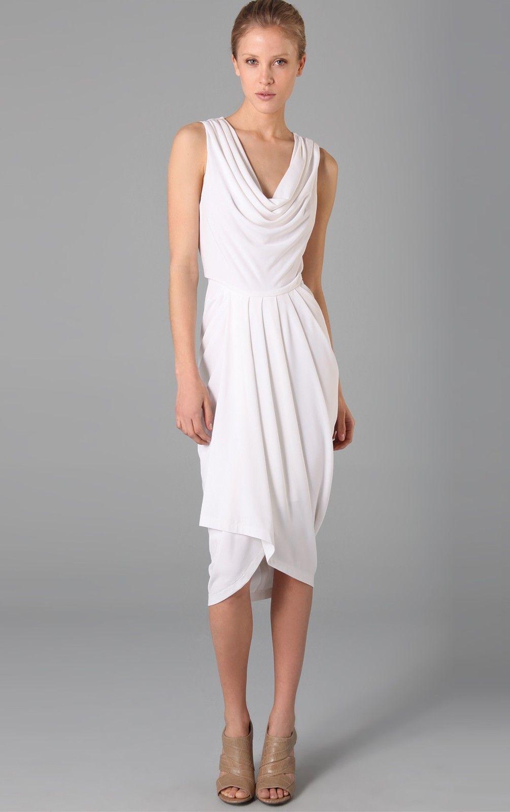 Modern Column Sleeveless Straps Chiffon Tea-length Cocktail Dresses ...