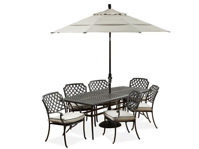 Legacy Cushioned 5 Pc Dining Set With 84 X 38 Boat Cast Top Table Cast Aluminum Patio Furniture Aluminium Outdoor Furniture Aluminum Patio Furniture