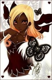 Image Result For Black Skin Anime Characters Orange Hair Black Anime Characters Anime Black Girl Cartoon