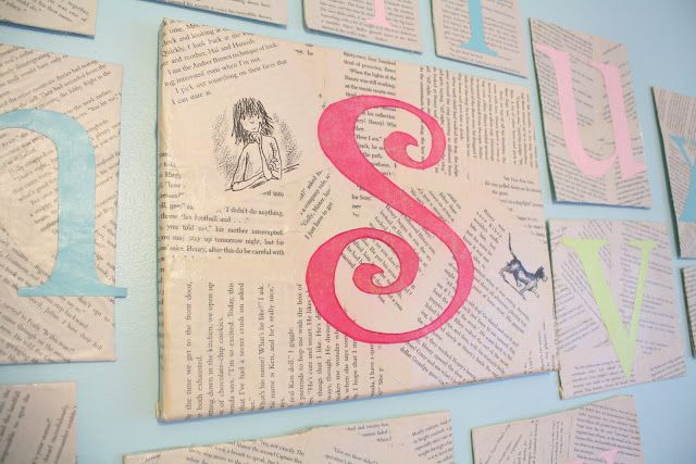 Diy alphabet wall using cardboard and old book pages do it diy alphabet wall using cardboard and old book pages solutioingenieria Image collections