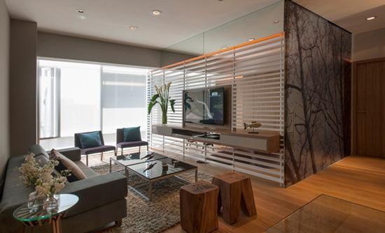 Un apartamento pequeño y con decoración económica en México, ¡nos - departamento de soltero moderno pequeo