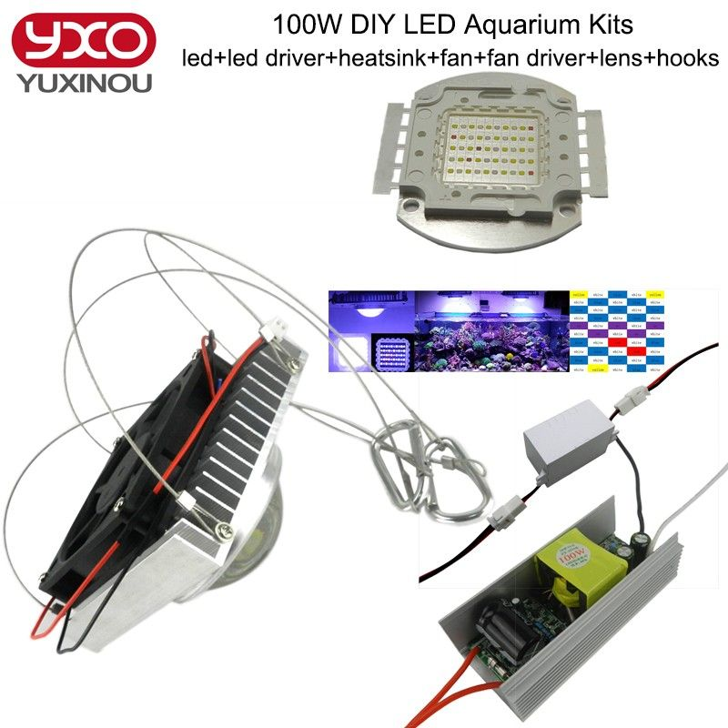 50w 100w Aquarium Light For Coral Diy 100w Multichips Led Aquarium Led Chip Best For Marine Fish Tank For Coral Reef Growing Affiliate Aquarios