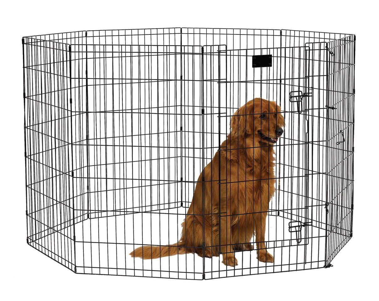 Amazon Com Midwest Foldable Metal Exercise Pen Pet Playpen Outdoor Pet Pens Pet Supplies Dog Playpen Pet Playpens Cat Playpen