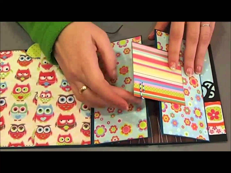 How to scrapbook a mini album - Mini Lbum Scrapbook Desplegable
