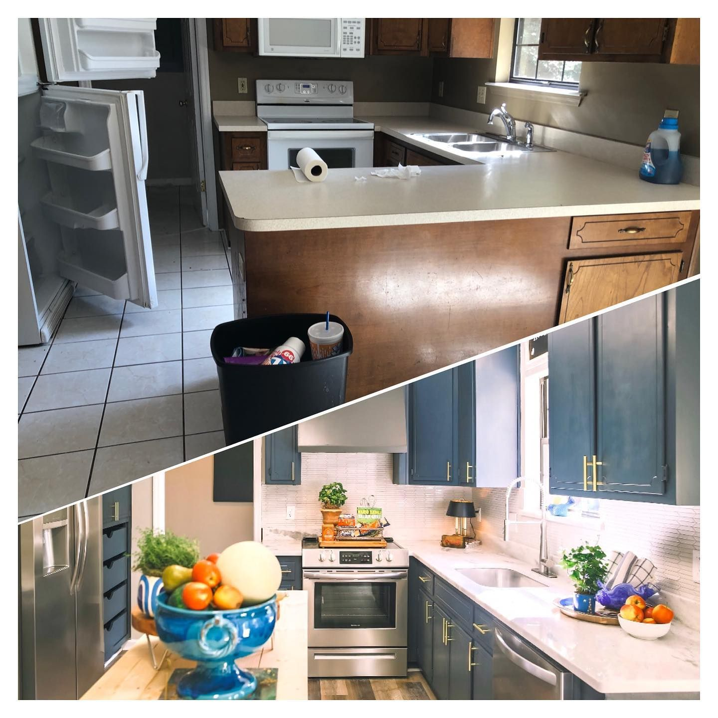 Before After Instadesign Styleandsold Killearn Tallahassee Lovely Rehab Hgtv Styleoftheday Staging Staginghomes In 2020 Kitchen Kitchen Cabinets Home