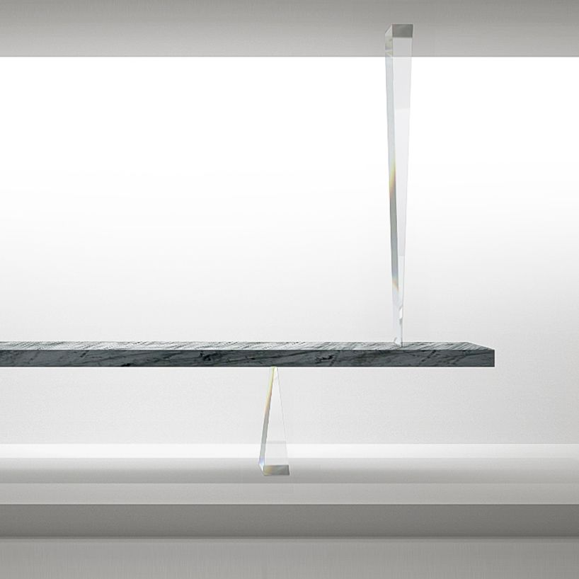 table of the universe by tokujin yoshioka frees itself from gravity