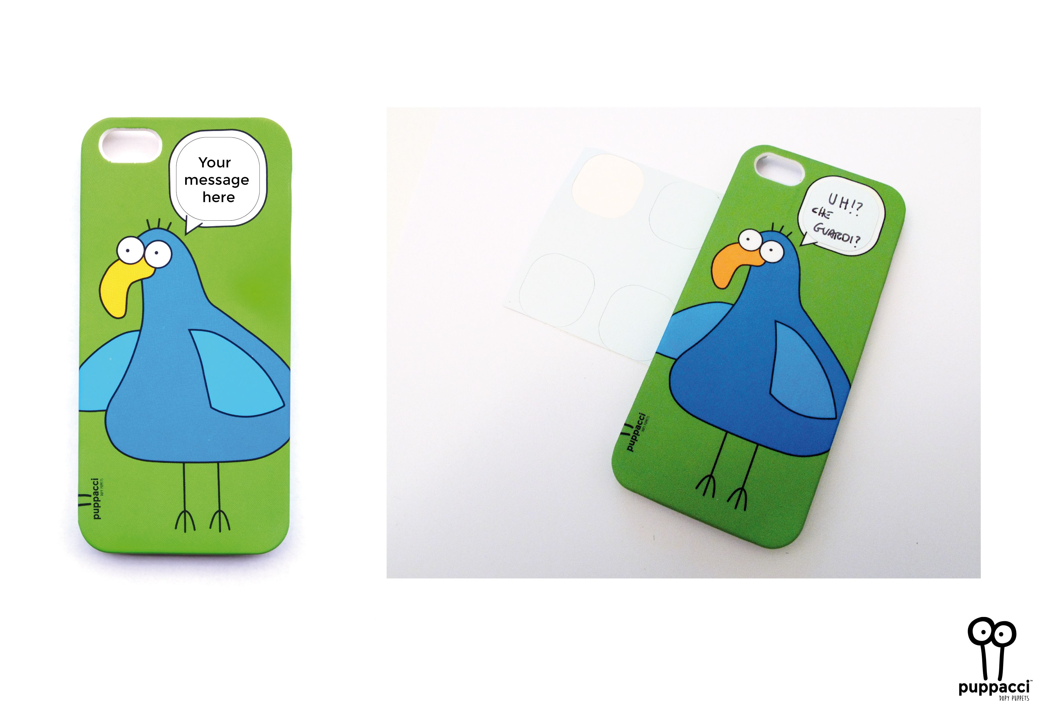 Puppacci's Frzonzo case for iphone 5 and iPhone 5S. Included stickers to personalize the message of the baloon. Soft touch finish and high resistant plastic. Shop @: http://www.puppacci.com/#!shop/c10lt